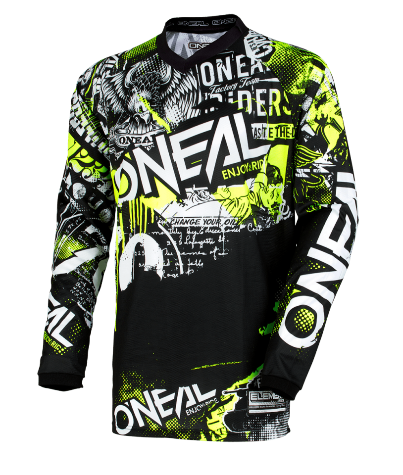 ONEAL MX a MTB dres Element ATTACK čierno žltý