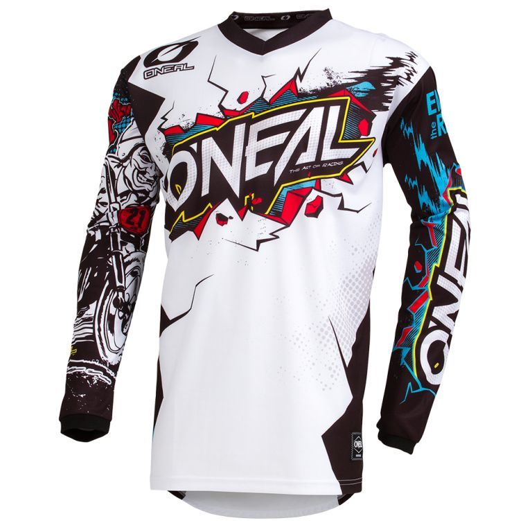 ONEAL MX a MTB dres Element VILLAIN biely