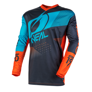 ONEAL MX a MTB dres Element FACTOR sivo oranžový